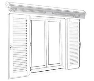 Pose store banne fenêtre avec volets