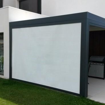 Rideau motorisé pour pergola bioclimatique Design & Lounge - Pergolas Bioclimatiques, Stores Bannes et Volets sur mesure