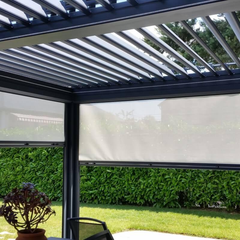 rideau pour pergola exterieur rideaux ext rieurs sur mesure pour pergola black sun tete de lit. Black Bedroom Furniture Sets. Home Design Ideas