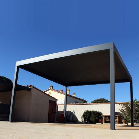 Pergola bioclimatique Design autoportée en aluminium - Pergolas Bioclimatiques, Stores Bannes et volets - Alsol.fr