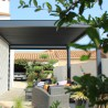Pergola bioclimatique Lounge perpendiculaire en aluminium - Pergolas Bioclimatiques, Stores Bannes et Volets sur mesure - Alsol.fr
