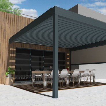 Pergola bioclimatique Architect en aluminium
