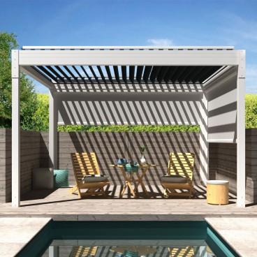 Pergola bioclimatique Architect autoportée en aluminium - Pergolas Bioclimatiques, Stores Bannes et Volets sur mesure