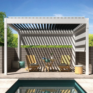Pergola bioclimatique Architect autoportée en aluminium