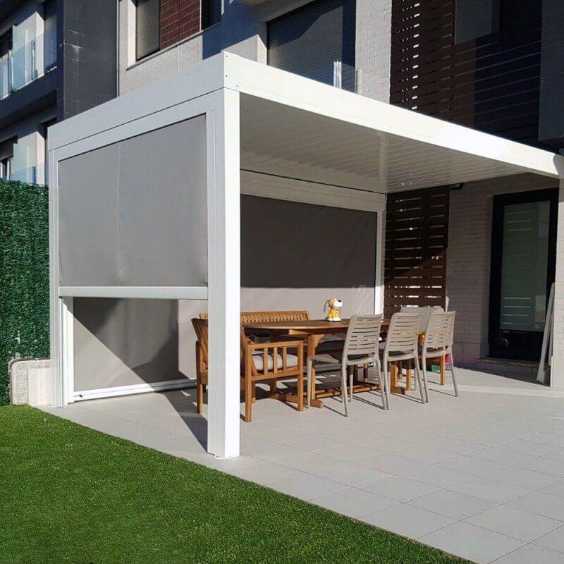 rideau motorisé pour pergola bioclimatique architect • alsol