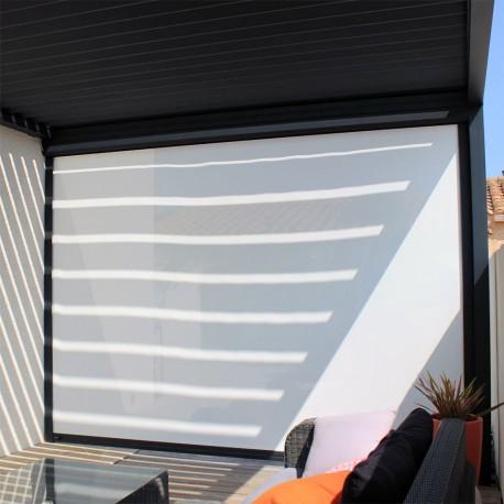 Rideau motorisé pour pergola bioclimatique Design & Lounge - Pergolas Bioclimatiques, Stores Bannes et volets - Alsol.fr