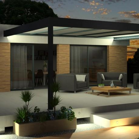 Pergola Architect en aluminium avec toit Thermotop® sur mesure - Pergolas Bioclimatiques, Stores Bannes et volets - Alsol.fr
