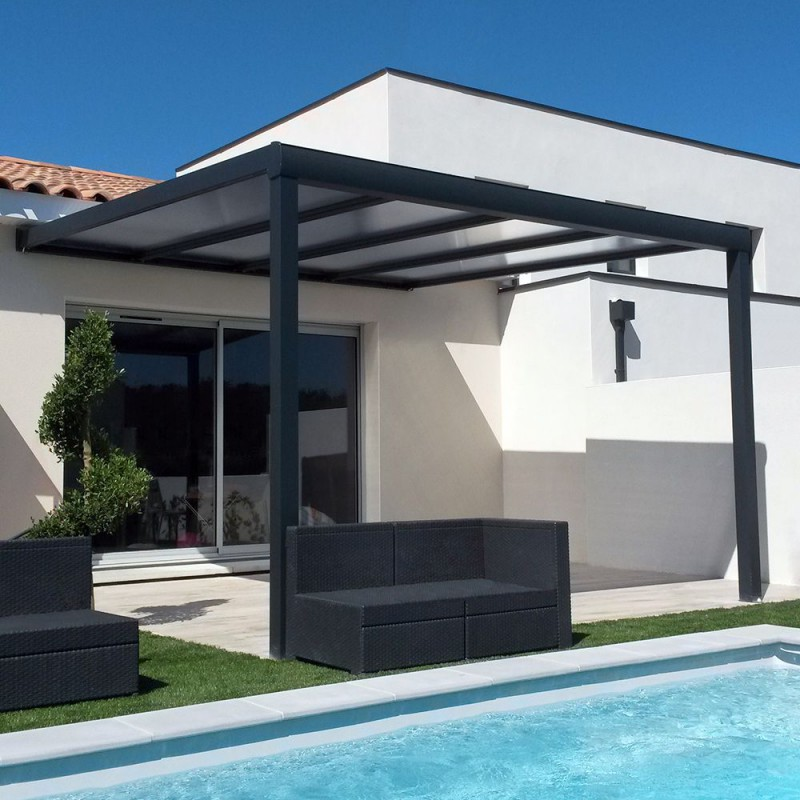 pergola toit polycarbonate ou thermotop sur mesure en aluminium. Black Bedroom Furniture Sets. Home Design Ideas