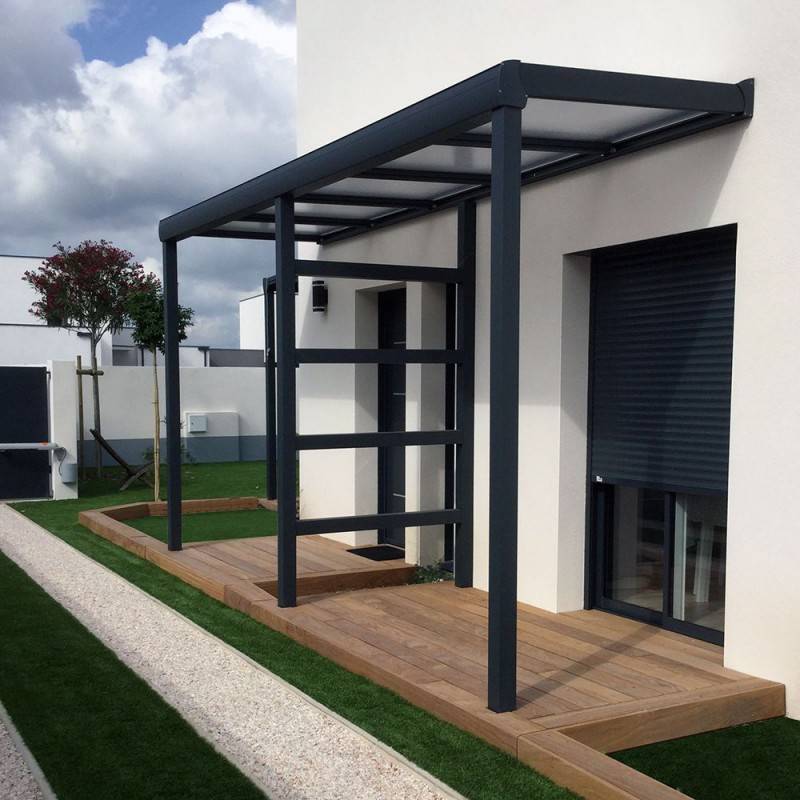 Pergola toit polycarbonate ou thermotop sur mesure en - Pergola en polycarbonate ...