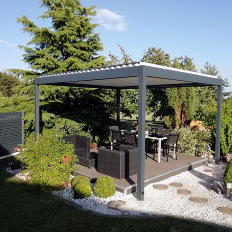 Pergola bioclimatique Lounge autoportée en aluminium - Pergolas Bioclimatiques, Stores Bannes et volets - Alsol.fr