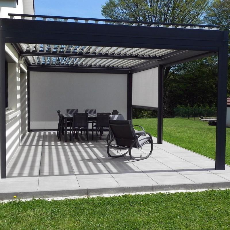 rideau motoris pour pergola bioclimatique architect alsol. Black Bedroom Furniture Sets. Home Design Ideas