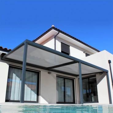 Pergola toile coulissante rétractable Ambiance en aluminium - Pergolas Bioclimatiques, Stores Bannes et Volets sur mesure