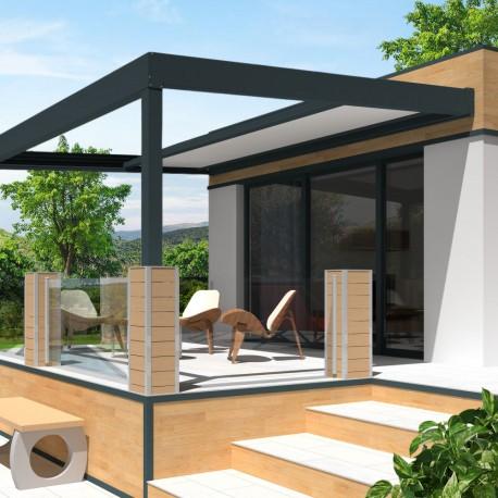 pergola allure thermotop en aluminium toit r tractable. Black Bedroom Furniture Sets. Home Design Ideas