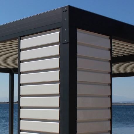 Claustra brise soleil orientable en aluminium - Pergolas Bioclimatiques, Stores Bannes et volets - Alsol.fr