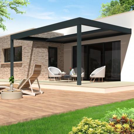 Pergola Allure Polycarbonate à toit rétractable - Pergolas Bioclimatiques, Stores Bannes et volets - Alsol.fr