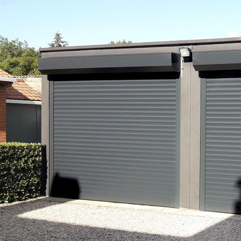 Porte De Garage Enroulable En Aluminium Sur Mesure Et Motorisee Alsol
