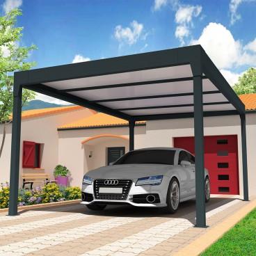 Devis en ligne Carport autoporté sur mesure en aluminium