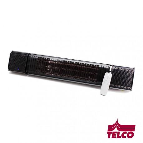 Chauffage radiant avec musique et LEDS intégrées - RAL7016