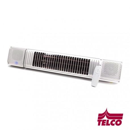 Chauffage radiant avec musique et LEDS intégrées - RAL9010