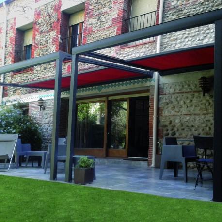 Pergola toile Ambiance en aluminium - Pergolas Bioclimatiques, Stores Bannes et volets - Alsol.fr