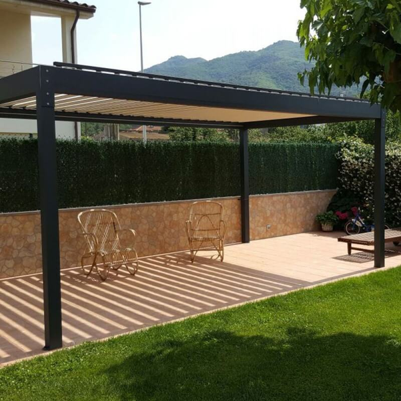 pergola bioclimatique lounge autoport e en aluminium. Black Bedroom Furniture Sets. Home Design Ideas