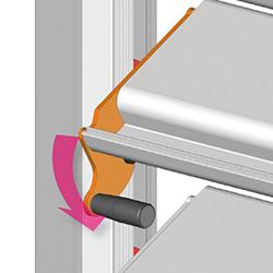 Système de verrouillage du claustra brise soleil pour pergola bioclimatique