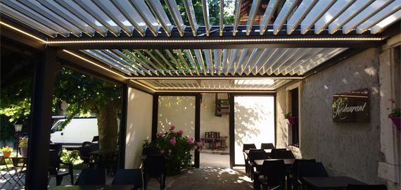 La nouvelle terrasse d'un restaurant