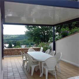 Une terrasse parfaitement protégée