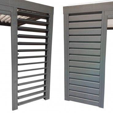 Devis en ligne Claustra brise soleil orientable en aluminium